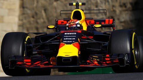 Max Verstappen was fast in practice on Friday, but he also crashed at the end of FP2. (Photo: Steven Tee/LAT Images)