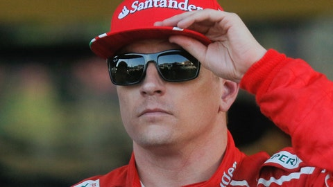 Kimi Raikkonen will start third for Sunday's Azerbaijan GP. (AP Photo/Efrem Lukatsky)