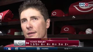 Homer Bailey on first start back: 'No excuses. I just didn't pitch well'