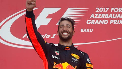 Daniel Ricciardo's fifth career F1 win came at Sunday's Azerbaijan GP. (AP Photo/Darko Bandic)