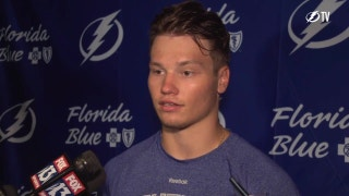 Lightning D Mikhail Sergachev on how he learned about trade, joining the Bolts