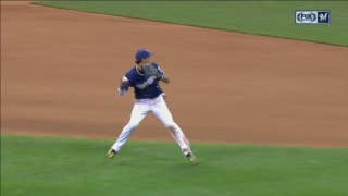 WATCH: Orlando Arcia ends game with spectacular spinning throw
