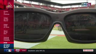 Oliver Marmol talks about Cardinals' infield training glasses
