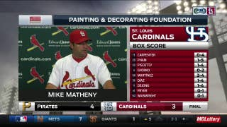 Matheny says homers allowed by Oh have been due to elevated pitches