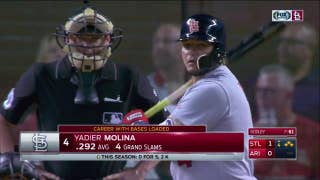 WATCH: Molina extends hitting streak to 14 games while driving in two