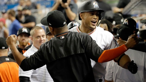 Ozuna HR starts comeback as Marlins beat A's 11
