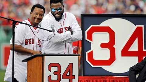 Red Sox retire David Ortiz's number 34