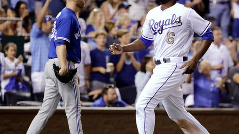 Merrifield walk-off double caps four-run ninth for Royals