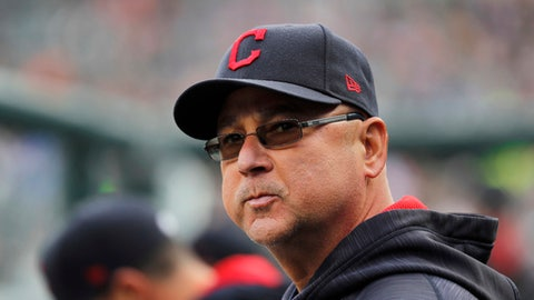 FILE - In this May 3, 2017, file photo, Cleveland Indians manager Terry Francona watches the team's baseball game against the Detroit Tigers in Detroit. Francona missed Tuesday night's game against Texas after his second trip to the hospital this month. The Indians said doctors for now have ruled out major health issues and Francona will be monitored the next several weeks. The 58-year-old Francona left Monday night's game because he wasn't feeling well. He spent several hours at Cleveland Clinic and underwent a series of tests. (AP Photo/Paul Sancya, File)