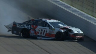 Danica Patrick Crashes Out on Late Restart | 2017 MICHIGAN | FOX NASCAR