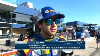 Chase Elliott Finishes Second Again | 2017 MICHIGAN | FOX NASCAR