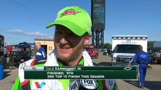 Dale Earnhardt Jr. Scores a Top Ten | 2017 MICHIGAN | FOX NASCAR