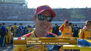 Joey Logano Finishes Third | 2017 MICHIGAN | FOX NASCAR