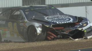 Chase Elliott Wrecks in Sonoma Practice
