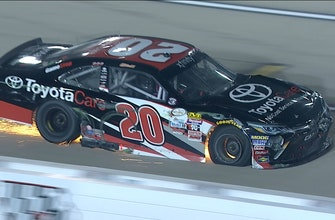 Christopher Bell Taken Out While Leading at Iowa   2017 XFINITY SERIES   FOX NASCAR