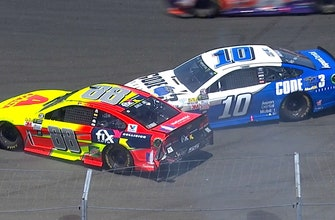 Dale Earnhardt Jr. slides into Danica Patrick early at Sonoma