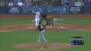 WATCH: Travis Shaw tallies 3 RBI in Brewers' 4-2 win
