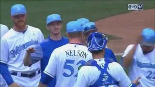 WATCH: Brewers' Nelson strikes out final batter in first career complete game