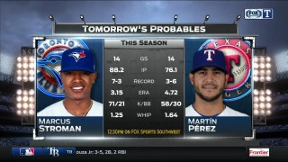 Thursday day-game probables | Rangers Live