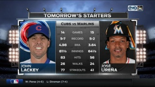Jose Urena tries to get Marlins even in series vs. Cubs