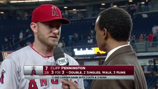 Perfect night at the plate for the Angels and Cliff Pennington