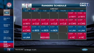 Upcoming schedule for Texas | Rangers Live