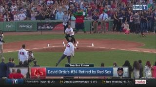 David Ortiz's jersey retirement | Rangers Live