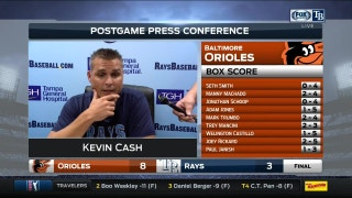 Kevin Cash says Orioles did a nice job of quieting Rays' bats