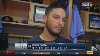 Rays' Faria hopes to work on execution for next start