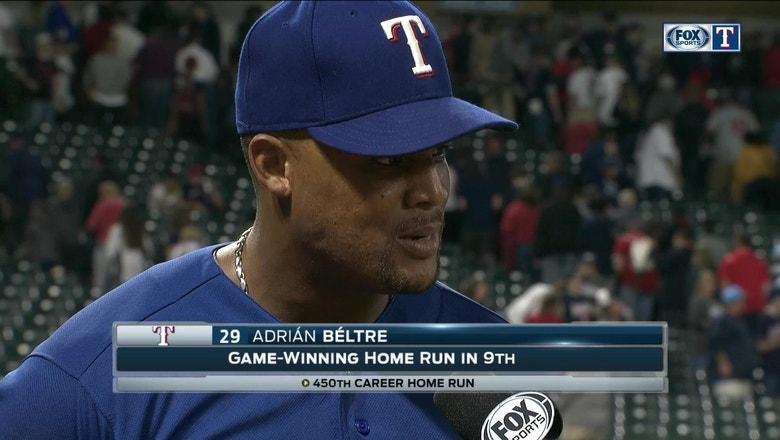 Adrian Beltre on game-winning, milestone home run