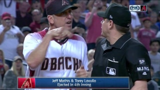 Lovullo, Mathis ejected in heated exchange with ump