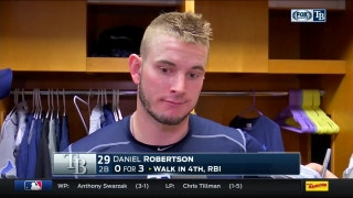 Rays' Robertson says errors uncharacteristic, eager for next game