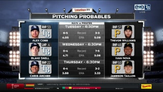 Rays head to Pittsburgh to start road trip