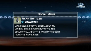 Ryan Switzer mixed up with Cowboys Kicker | SportsDay OnAir