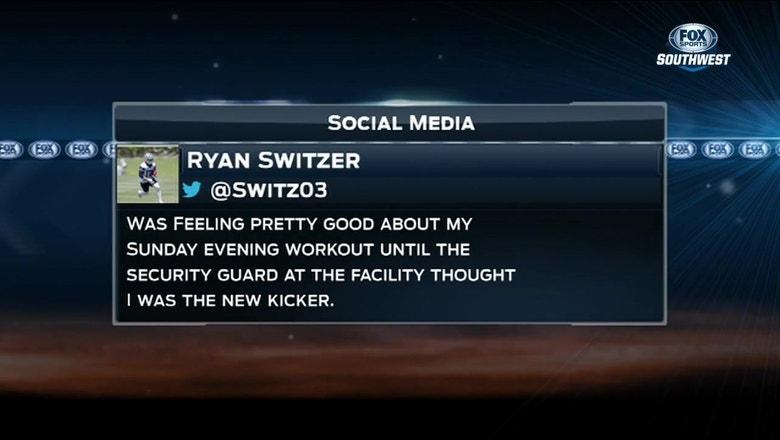 Ryan Switzer mixed up with Cowboys Kicker   SportsDay OnAir