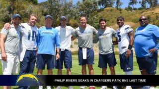 Philip Rivers soaks in an extra 30 minutes of Chargers Park after OTA's