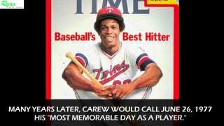 Twins great Rod Carew's most memorable day