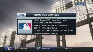 What's the reason behind MLB's latest surge in home runs?
