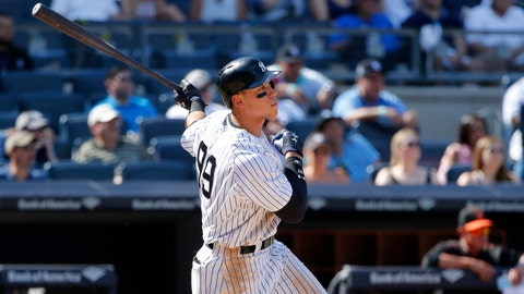 Aaron Judge clears Yankee Stadium bleachers with monster 495-foot home run