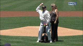 WATCH: 103-year-old Lt. Jim Downing throws out the first pitch