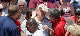 Fan at Texas A&M CWS game hit in head by flying bat