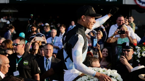 Tapwrit wins 149th Belmont Stakes