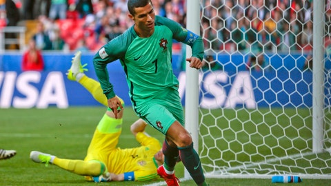 Ronaldo on target for Portugal