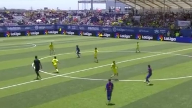 Watch La Masia's youngsters score a very un-Barcelona goal from behind midfield