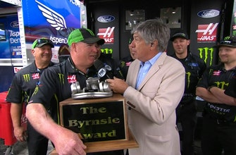 Bryson Byrnes presents third annual Byrnsie Award to Tony Gibson