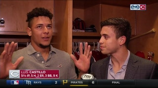 Luis Castillo on his home debut, Schebler's homer-saving catch