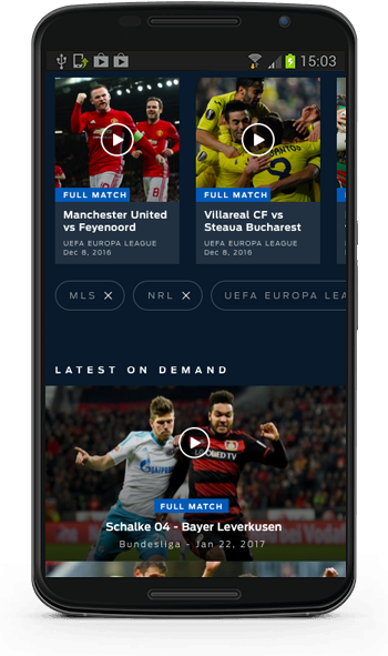 FOX Soccer 2GO Android app screenshot