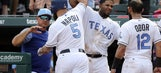 Napoli hits 2 homers in Rangers' win over Mariners