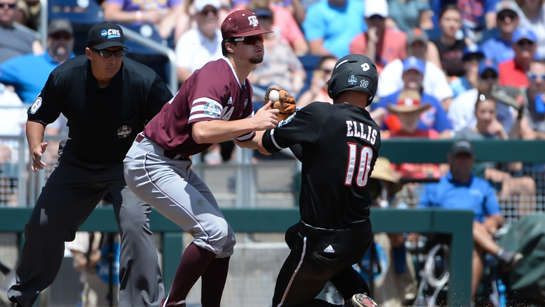 Texas A&M loses to Louisville in CWS opener