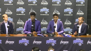 Jonathan Isaac and Wesley Iwundu - Orlando Magic press conference (Part 1)